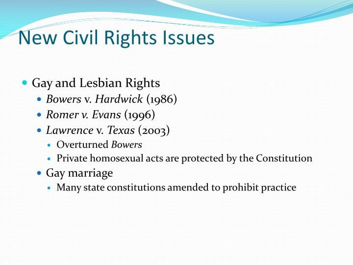 New Civil Rights Issues