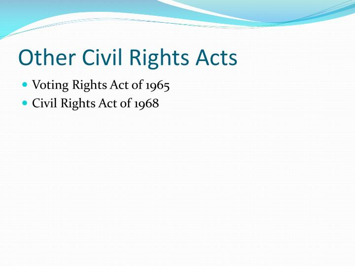 Other Civil Rights Acts