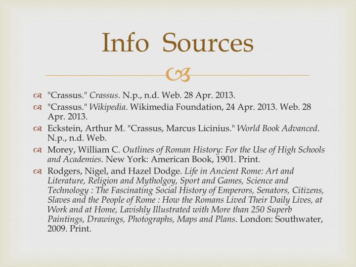 Info  Sources