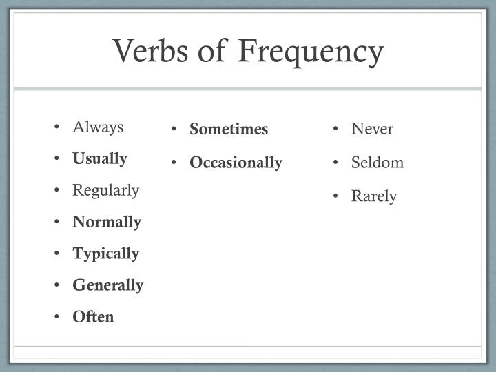 Verbs of Frequency