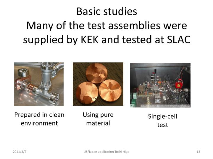 Basic studies