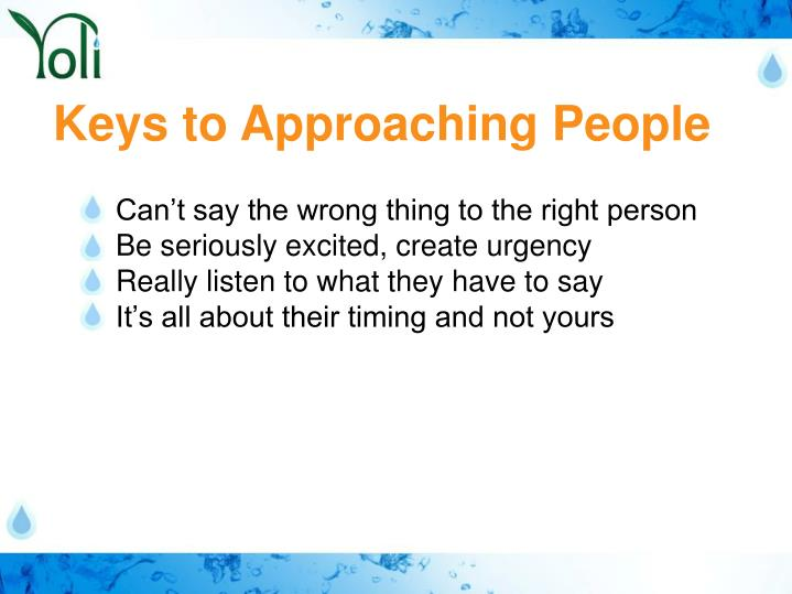 Keys to Approaching People