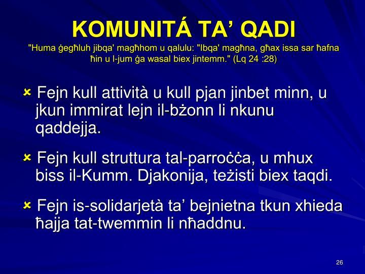 KOMUNITÁ TA' QADI