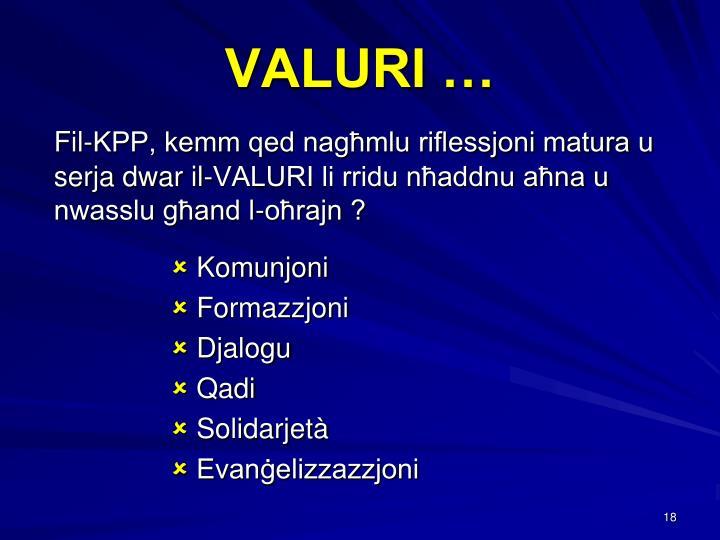 VALURI …