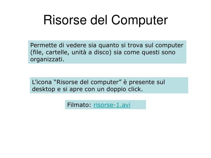Risorse del Computer