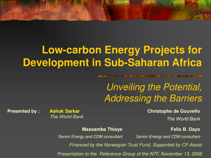 Low-carbon Energy Projects for