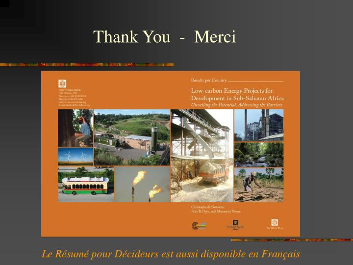 Thank You  -  Merci