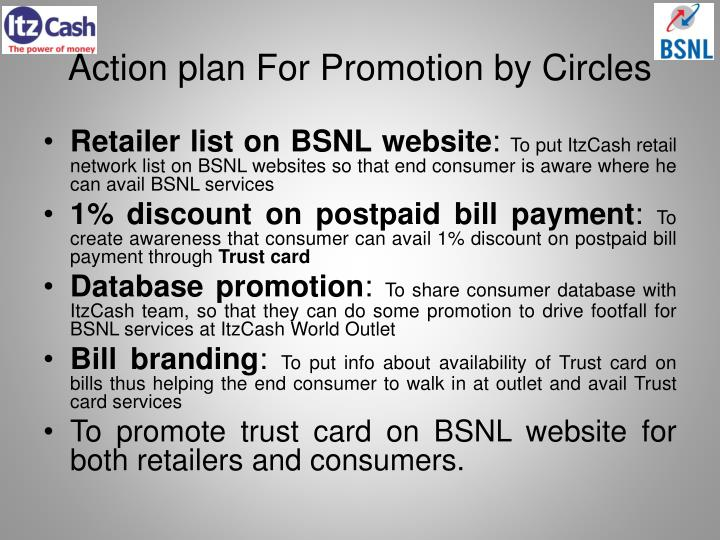 Action plan For Promotion by Circles