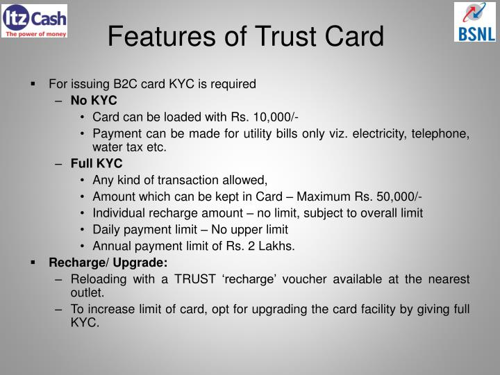 Features of Trust Card
