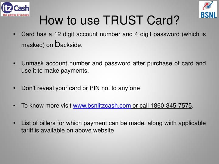 How to use TRUST Card?