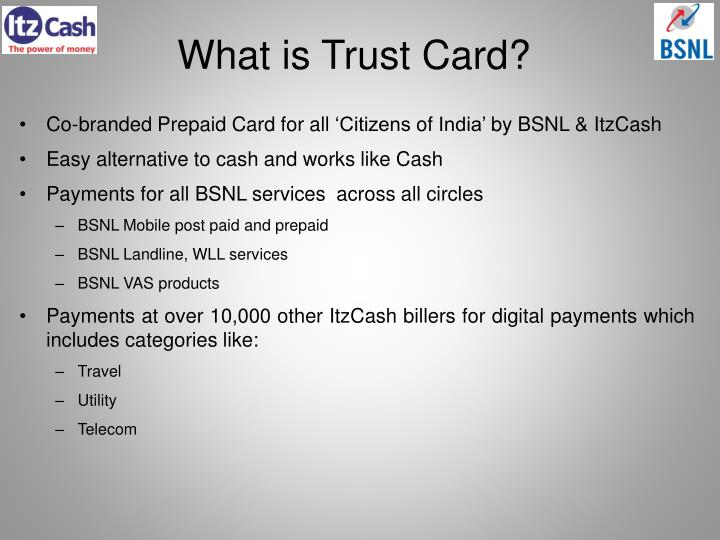 What is trust card