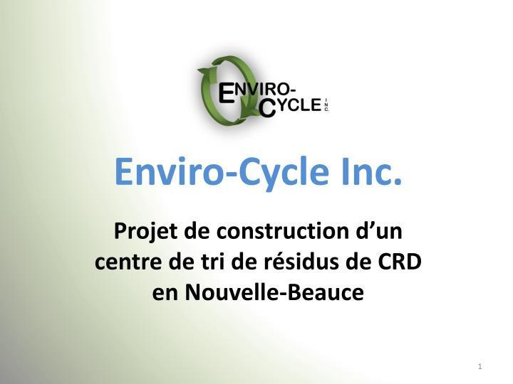 Enviro cycle inc
