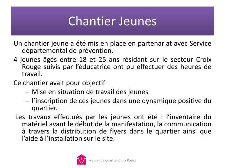 Chantier Jeunes