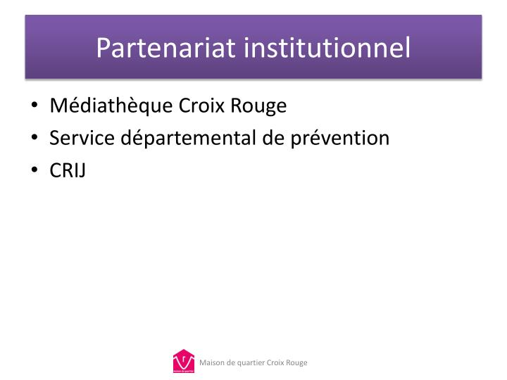 Partenariat institutionnel