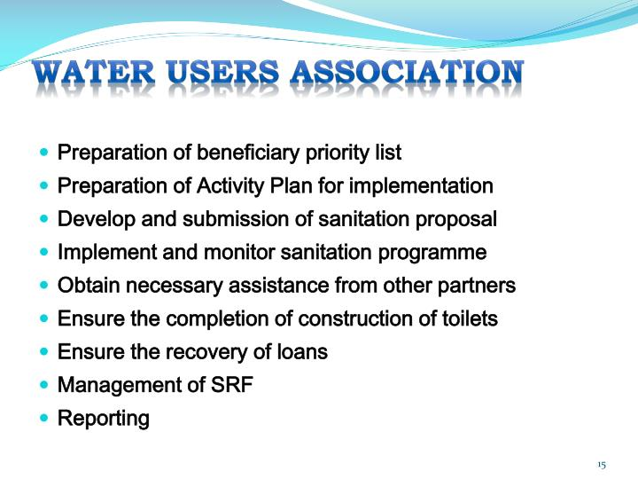 WATER USERS ASSOCIATION
