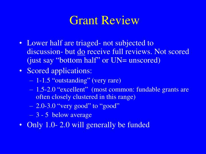 Grant Review