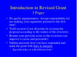introduction to revised grant 3 pages