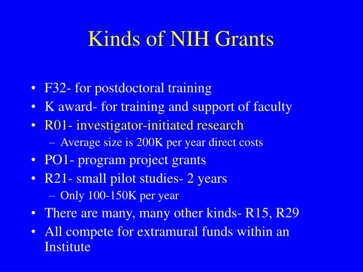 Kinds of NIH Grants