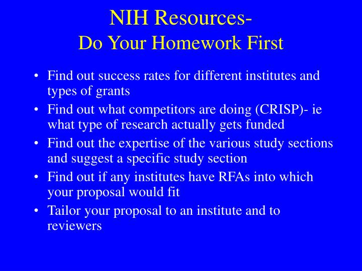 NIH Resources-