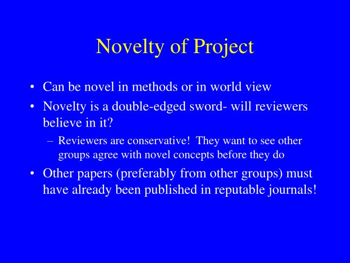 Novelty of Project