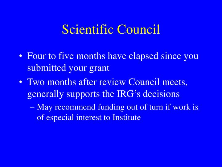 Scientific Council