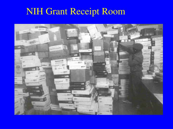 NIH Grant Receipt Room