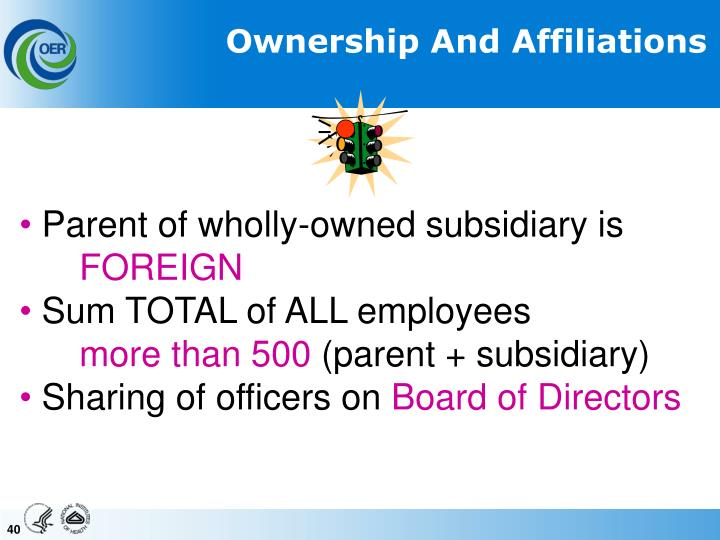 Ownership And Affiliations