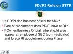 pd pi role on sttr1