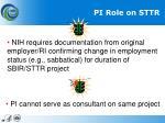 pi role on sttr