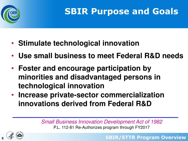 SBIR Purpose and Goals