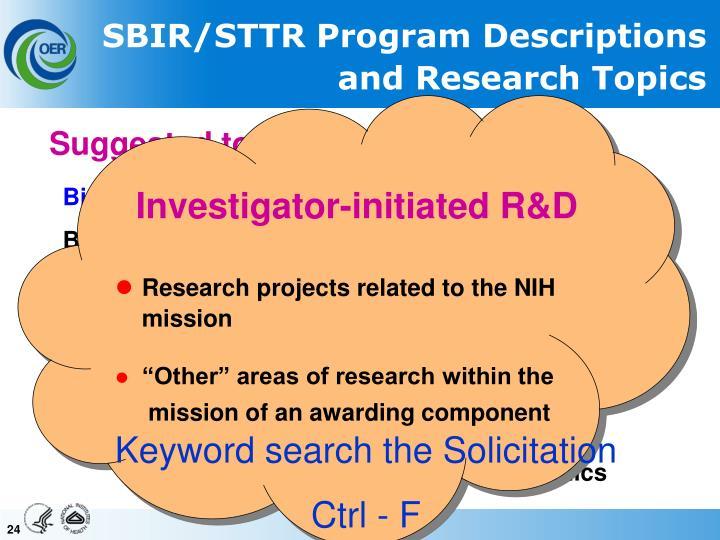 Investigator-initiated R&D