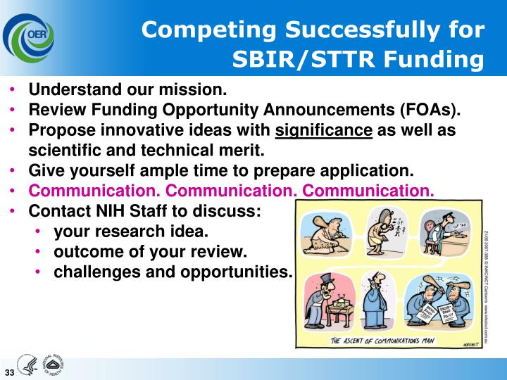 Competing Successfully for SBIR/STTR Funding