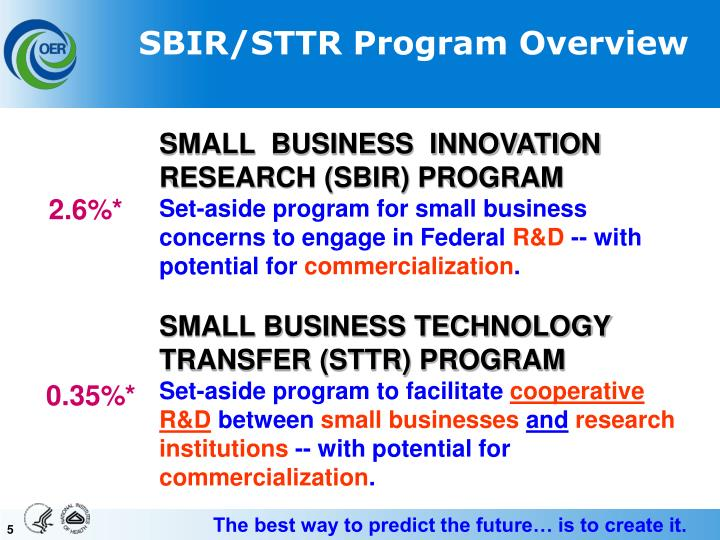 SBIR/STTR Program Overview