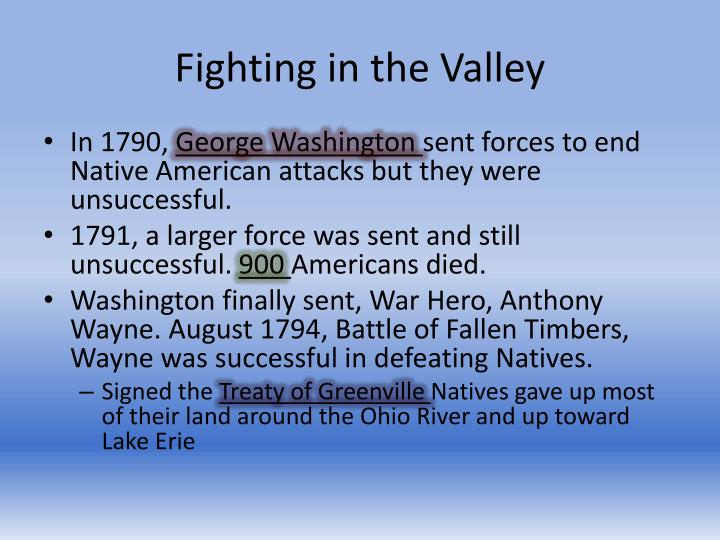 Fighting in the Valley