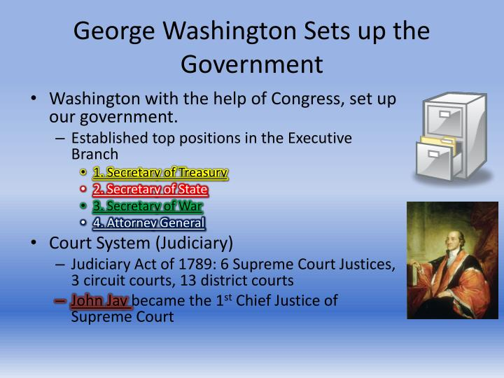 George Washington Sets up the Government