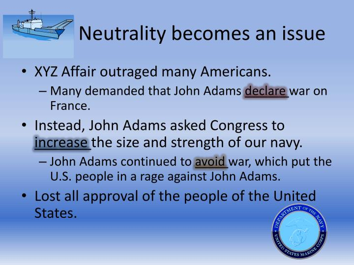Neutrality becomes an issue