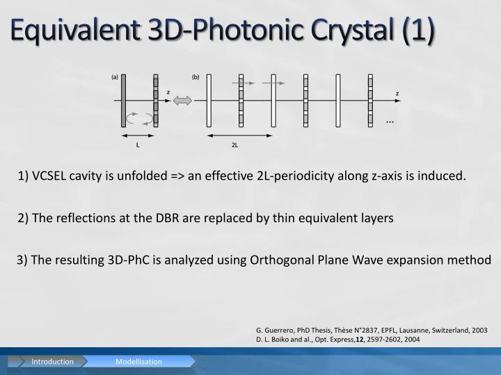 Equivalent 3D-Photonic Crystal (1)