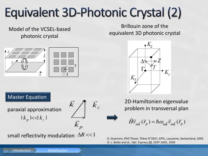 Equivalent 3D-Photonic Crystal (2)