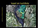 kaart en luchtfoto