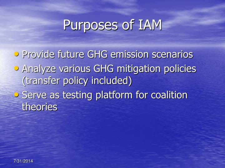 Purposes of IAM