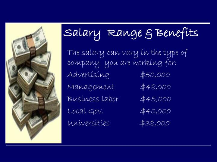 Salary  Range & Benefits