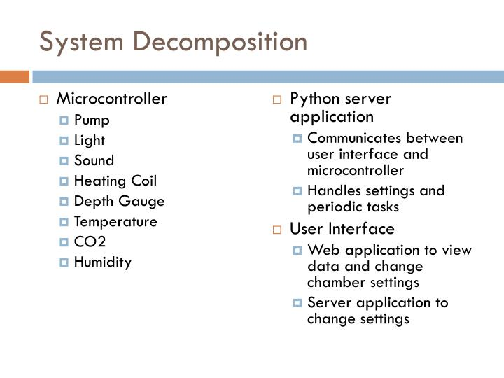 System Decomposition