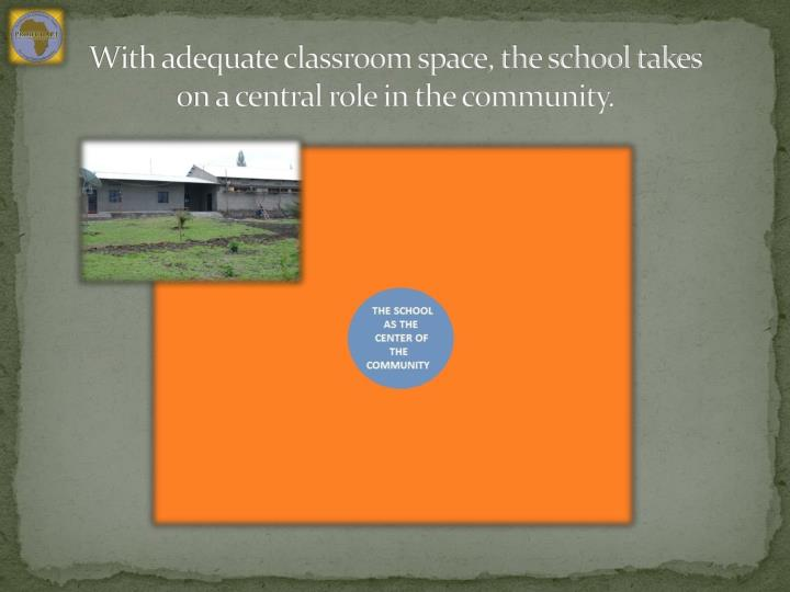 With adequate classroom space, the school takes