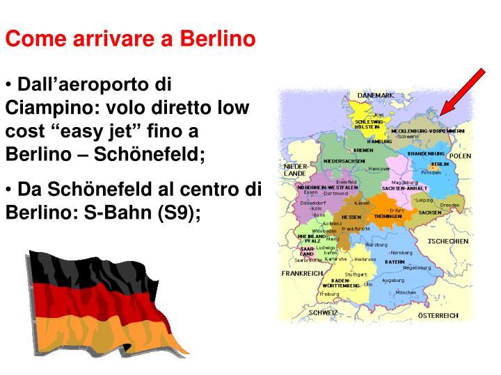 Come arrivare a Berlino