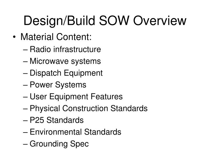 Design/Build SOW Overview