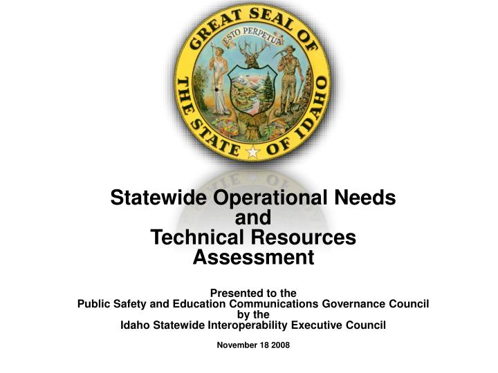 Statewide Operational Needs