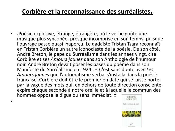 Corbière et la reconnaissance des surréalistes