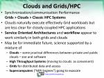 clouds and grids hpc