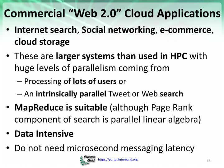"Commercial ""Web 2.0"" Cloud Applications"