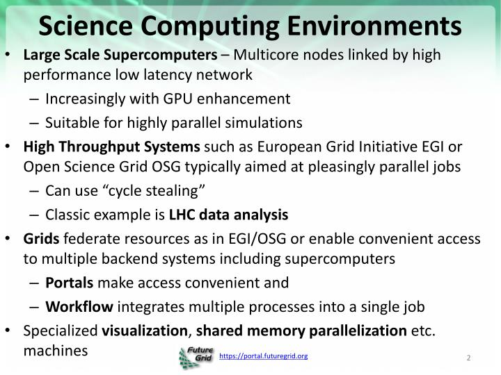 Science Computing Environments